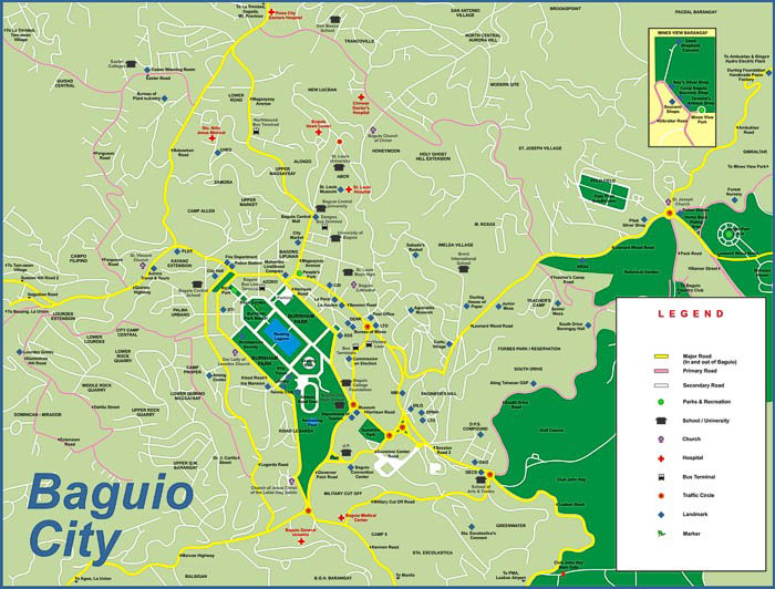 Baguio Maps | Road & Area Maps of Baguio City | Go Baguio!