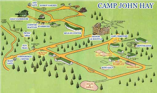 map of camp john hay
