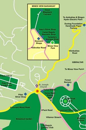 Area Map for Mines View Park
